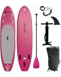 320 eXplorer SUP - Stand Up Paddle Surfboard I 320x76x15cm   pink